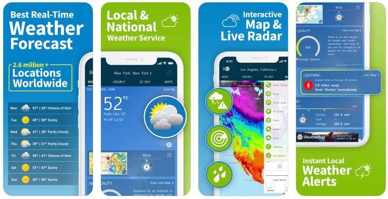 Weather Bug Väder-app
