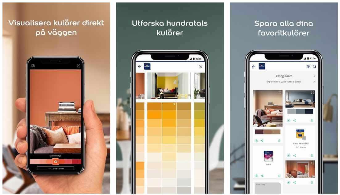 Nordsjö Professional app för att måla om väggar